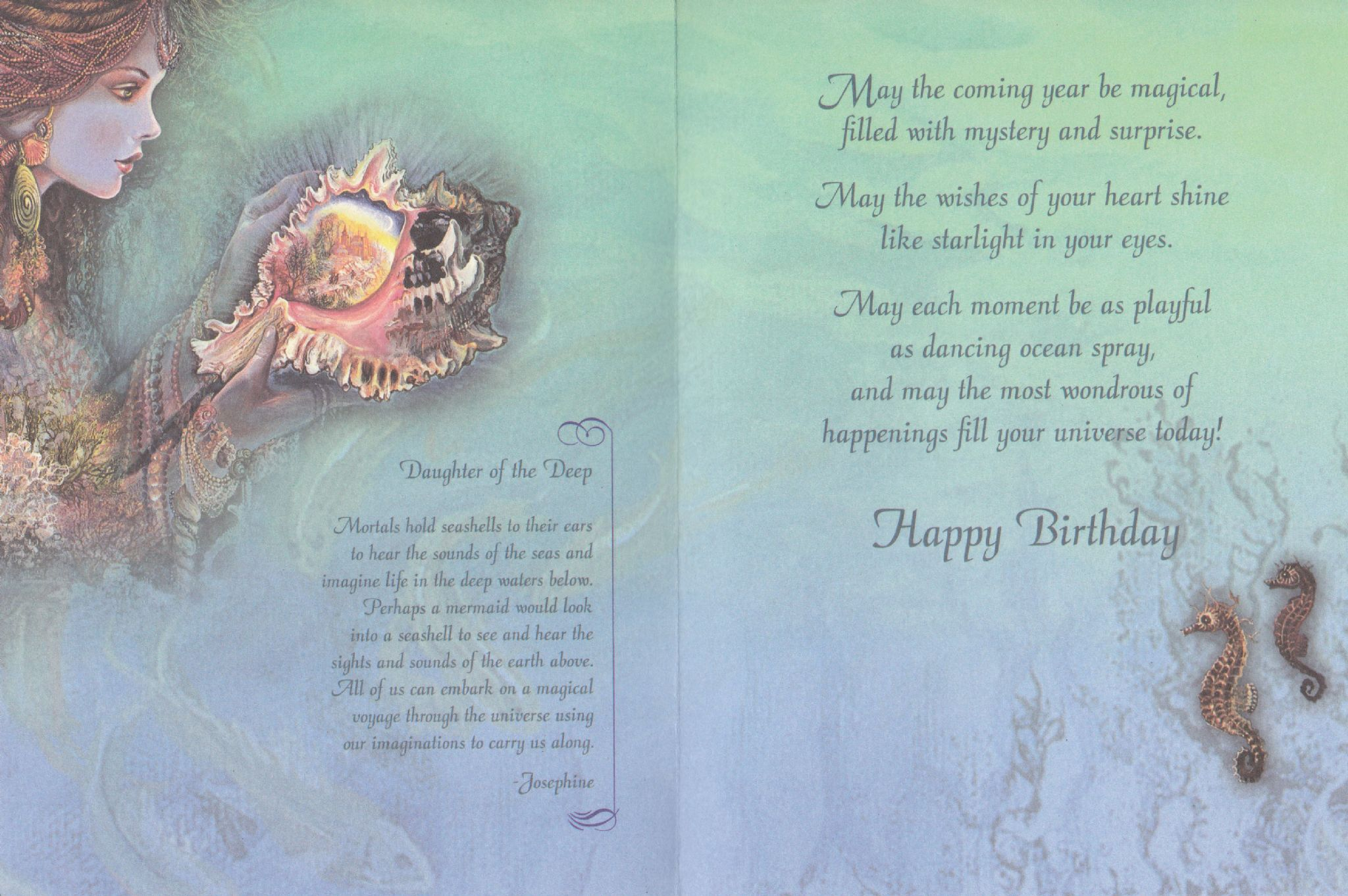 Birthday Card Daughter Of The Deep Birthday Greetings Card By